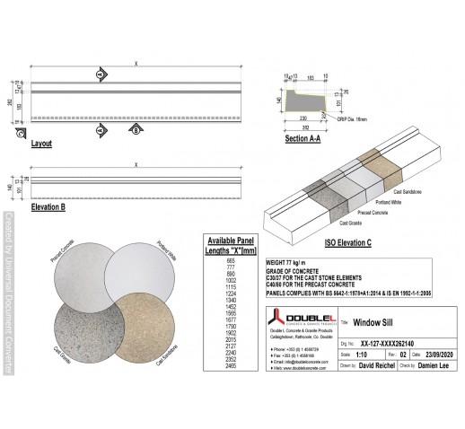 Concrete Sill - 265x140